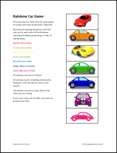 Rainbow Car Game