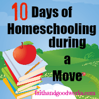 10 Days of Homeschooling during a Move