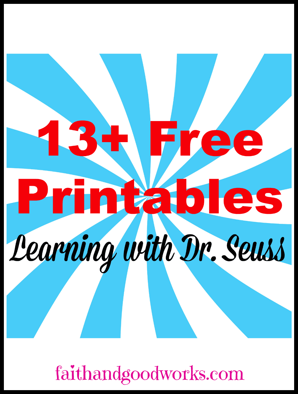 Learning with Dr Seuss Free Printables