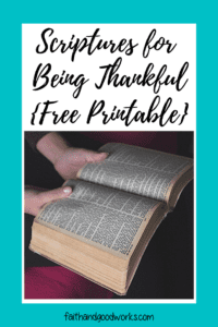 Scriptures for Being Thankful