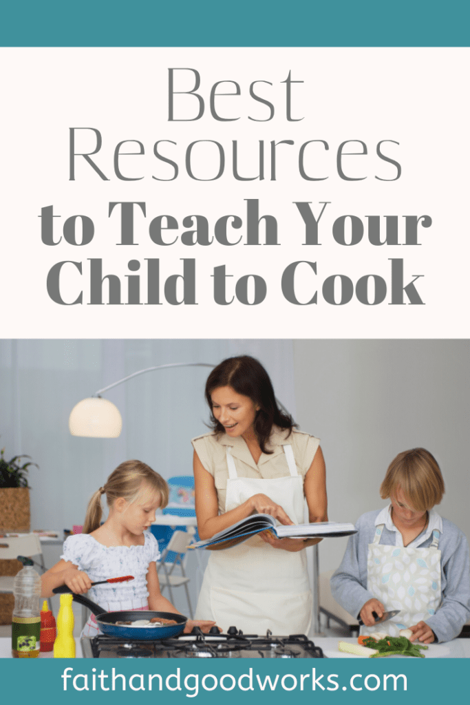teaching your child to cook.